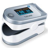 Beurer Pulsoksymetr PO 60 z Bluetooth®, biało-szary