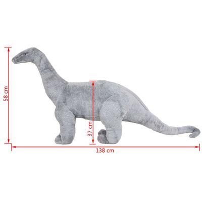 vidaXL Pluszowy brachiozaur, stojący, szary, XXL