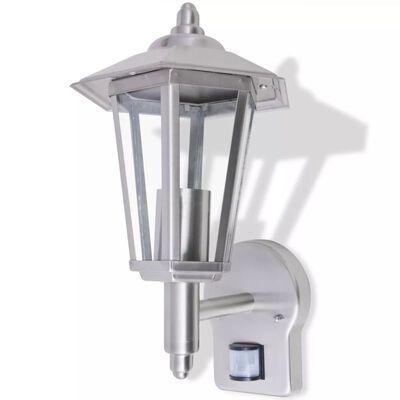 vidaXL Kinkiet zewnętrzny ze światłem skierowanym w górę i z czujnikiem ruchu, stal nierdzewna