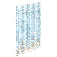 EISL Zasłona prysznicowa w kolorową mozaikę, 200x180x0,2 cm