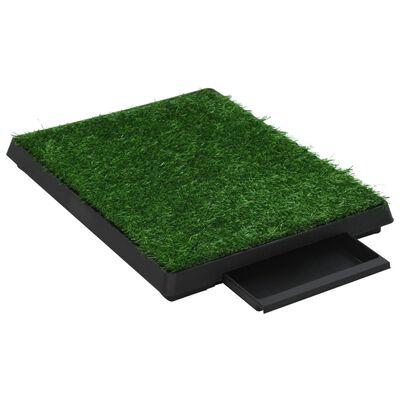 vidaXL Toalety dla zwierząt z tacą i sztuczną trawą, 2 szt, 63x50x7 cm