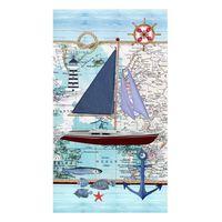Good Morning Ręcznik plażowy AARON, 100x180 cm, niebieski