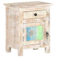 vidaXL Szafka nocna, 40x30x50 cm, surowe drewno akacjowe