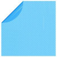 vidaXL Pływająca, okrągła folia, pokrywa solarna PE, 381 cm, niebieska