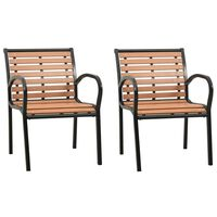 vidaXL Krzesła ogrodowe, 2 szt., drewno