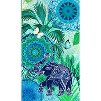 HIP Ręcznik plażowy ISARA, 100x180 cm, niebiesko-zielony