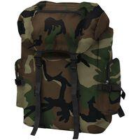 vidaXL Plecak w wojskowym stylu, 65 L, moro