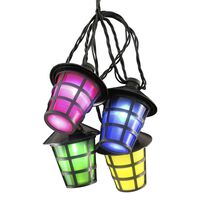 KONSTSMIDE Sznur oświetleniowy z 40 lampionami, wielokolorowy