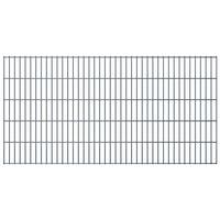 vidaXL Panele ogrodzeniowe 2D, 2,008 x 1,03 m, 22 m, szare