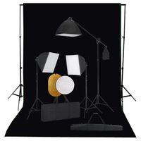 vidaXL Zestaw studyjny z lampami softbox, tłem i blendami