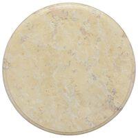 vidaXL Blat do stołu, kremowy, Ø40 x 2,5 cm, marmur