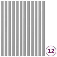 vidaXL Piankowe rękawy na słupki trampoliny, 12 szt., 92,5 cm, szare