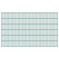 vidaXL Panele ogrodzeniowe 2D, 2,008 x 1,23 m, 22 m, zielone