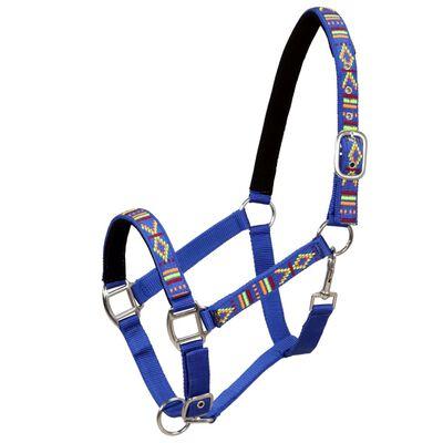 vidaXL Zestaw 2 kantarów, nylon, rozmiar Pony, niebieski