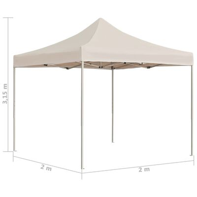 vidaXL Profesjonalny namiot imprezowy, aluminium, 2x2 m, kremowy