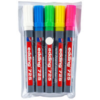 edding Neonowe markery do tablic suchościeralnych, 5 szt., 725