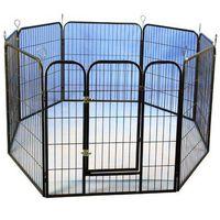 @Pet Modułowy kojec dla szczeniąt, czarny, 79x81 cm