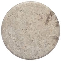 vidaXL Blat do stołu, szary, Ø50 x 2,5 cm, marmur