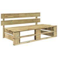 vidaXL Ogrodowa ławka z palet, drewno