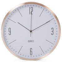 Perel Zegar ścienny, 30 cm, w kolorach białym i różowego złota