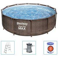 Bestway Basen ogrodowy Steel Pro MAX Deluxe Series, okrągły 366x100 cm