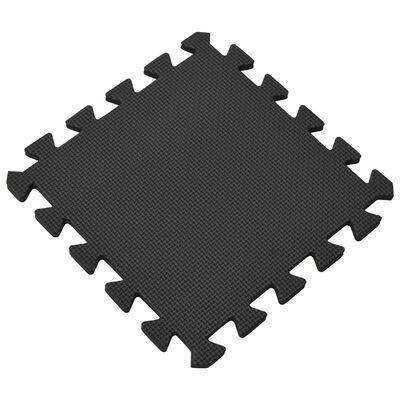 vidaXL Maty podłogowe, 54 szt., 4,86㎡, pianka EVA, czarne
