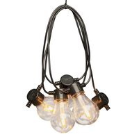 KONSTSMIDE Sznur z 10 wymiennymi lampkami, bardzo ciepłe światło
