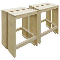vidaXL Ogrodowe stołki barowe, 2 szt., impregnowane drewno sosnowe