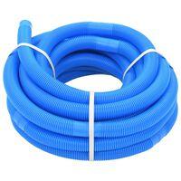 vidaXL Wąż do basenu, niebieski, 32 mm, 15,4 m