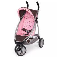 Bayer Wózek dla lalek Jogger Sport, brązowo-różowy, 39920AA