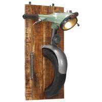 vidaXL Lampa ścienna stylizowana na skuter, żelazo i lite drewno mango