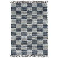 vidaXL Ręcznie tkany dywanik Chindi, dżins, 160x230 cm, niebieski