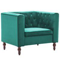 vidaXL Fotel, zielony, aksamit