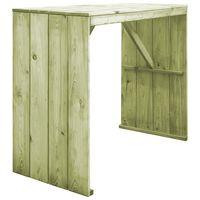vidaXL Stół barowy, 130x60x110 cm, impregnowane drewno sosnowe