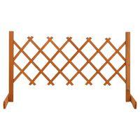 vidaXL Ogrodowy płot kratkowy, pomarańczowy, 120x60 cm, drewno jodłowe