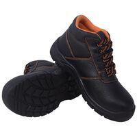 vidaXL Buty ochronne czarne, rozmiar 46, skórzane