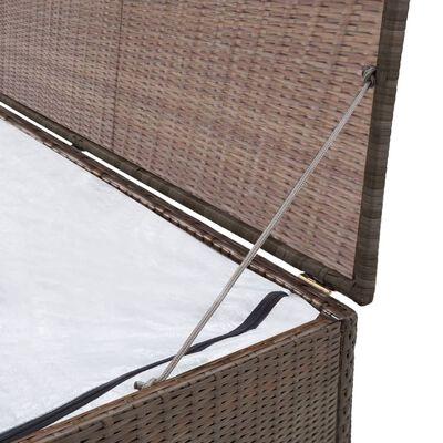 vidaXL Skrzynia ogrodowa, brązowa, 120 x 50 x 60 cm, rattan PE