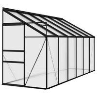 vidaXL Szklarnia, antracytowa, aluminium, 7,44 m³