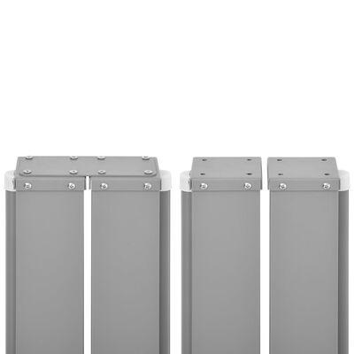 vidaXL Zwijana markiza boczna, antracytowa, 170 x 1000 cm