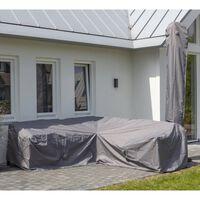 Madison Pokrowiec na zestaw ogrodowy, 270x210x90 cm, lewy, szary