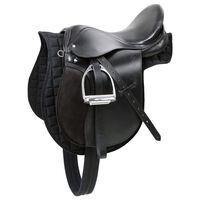 Kerbl Siodło dla koni Haflinger skórzane czarne 32285