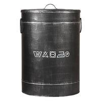 LABEL51 Pojemnik na pranie, 40x40x58 cm, L, antyczna czerń