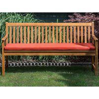 Ławka Ogrodowa Z Certyfikowanego Drewna 160 Cm Czerwona Poduszka Vivar
