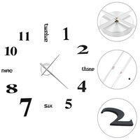 vidaXL Zegar ścienny 3D, nowoczesny design, 100 cm, XXL, czarny