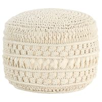 vidaXL Ręcznie robiony puf z makramy, 45 x 30 cm, bawełna