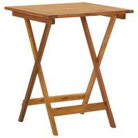 vidaXL Składany stół ogrodowy, 60x60x75 cm, lite drewno akacjowe