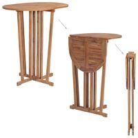vidaXL Składany stolik barowy, 100x65x105 cm, lite drewno tekowe