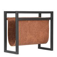 LABEL51 Stojak na gazety, 45x20x38 cm, kolor koniakowy