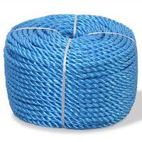 vidaXL Skręcana linka z polipropylenu, 14 mm, 250 m, niebieska
