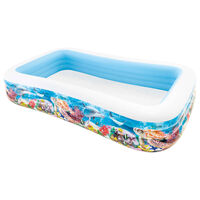 Intex Basen rodzinny Swim Center, 305x183x56 cm, wzór zwierząt morza